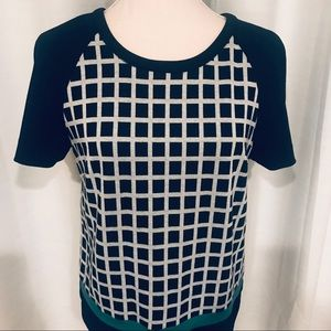 Halogen Nordstrom knit blouse with lattice pattern